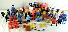 1970's Nice Vintage Playmobil Lot of Figures, Parts, And Vehicle! All Originals