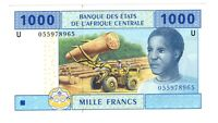 Cameroon Central African States 2002 1000 Francs Banknote Choice UNC Pick 207Ua