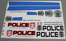 RC Car Truck RACING POLICE 911 CHEVY CAPRICE POLICE CAR Decals Stickers