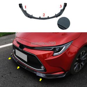 For Toyota Corolla 2020 LE/XLE ABS carbon fiber Front Bumper Molding Cover Trim
