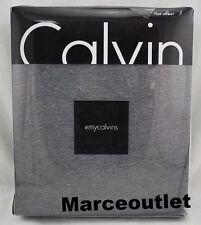 Calvin Klein Home Modern Cotton Body Jersey QUEEN Flat Sheet Charcoal