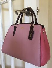 COACH F57497 NWT COLORBLOCK SMALL MARGO CARRYALL SATCHEL CROSSGRAIN  60% OFF!