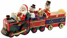Santa Driving A Christmas Train Magnetic Salt & Pepper Shaker & toothpick holder