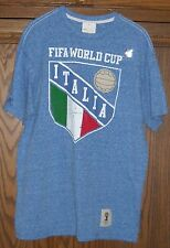 NEW FIFA WORLD CUP BRASIL ITALIA BLUE T SHIRT SIZE LARGE