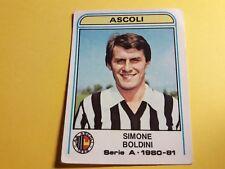 SIMONE BOLDINI ASCOLI FIGURINA ALBUM CALCIATORI PANINI 1980/81 n°26 Rec