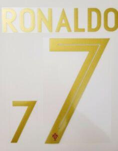 2018/19/20 Portugal FC #7 Ronaldo Home Soccer Name set and Full Patch Set option