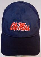 OLE MISS REBELS University of Mississippi UNDER ARMOUR Navy Blue HAT CAP Size M