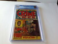 CRIME DOES NOT PAY 116 5.5 WHITE 2ND HIGHEST GRADED DILLINGER LEV GLEASON COMICS