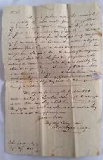1828 Handwritten Letter Andrew Jackson Election York Pennsylvania General Ayres
