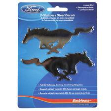 Original Ford Mustang Pony Logo Edelstahl Embleme Aufkleber Sticker Decal NEU