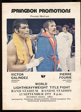"VICTOR GALINDEZ vs PIERRE FOURIE II   11""X14""  BOXING POSTER"