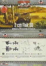 2 cm Flak 30, 2 Stück, First To Fight, 1/72 Kit modellismo plastica ,NUOVO