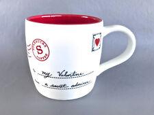 2010 Starbucks Valentine My Valentine Envelope Love Letter Secret Admirer  Mug