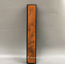 30.5cm collect China Old Bamboo carving Handmade Chopsticks box Sculpture Hhhh
