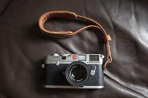Handmade Real Leather wrist camera strap for film camera EVIL camera Light Brown