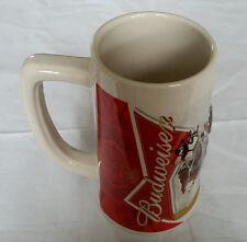 2012 Budweiser Holiday Beer Stein Winter Wonderland Handcrafted Numbered