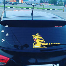 Car Stickers Cartoon Funny Cat Moving Tail Stickers Reflective Styling Window
