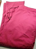 Grey's Anatomy Women L Scrub Bottoms Pants Burgandy Purple Style # 4232T