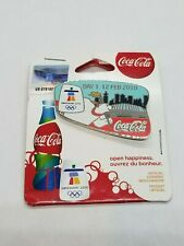 VANCOUVER 2010  OLYMPIC - COCA COLA - DAY 1 BOTTLE PIN  - ON ORIGINAL CARD .