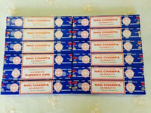 Aussie Stock 12 of SATYA SAI BABA NAG CHAMPA Incense Sticks 15G 2020 Fresh Sale