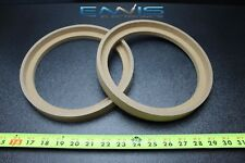 2 MDF SPEAKER RINGS SPACER 8 BZ BEZEL INCH WOOD 1 INCH THICK FIBERGLASS RING-8BZ