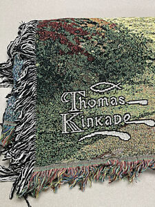 """Thomas Kinkade """"Painter Of Light"""" Throw/Tapestry Blanket 51"""" X 68"""" NEW With Tags"""