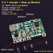 Lithium Li-ion 18650 3.7V 4.2V Battery Charger Board DC-DC Step up Boost Module