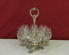 Set of 6 BRANDY Glasses and Stand