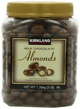 Kirkland Signature's Milk Chocolate Covered Almonds 48 Ounce (3 Lbs)