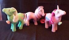 MLP ¤ G1 ¤ Vintage My Little Pony ¤ Dance n Prance pony lot of 3 ponies [A5]