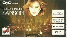 RARE / TICKET BILLET DE CONCERT - VERONIQUE SANSON : LIVE A LYON ( FRANCE ) 1990