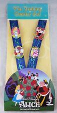 Disney Parks Alice in Wonderland Pin Trading Starter Set Lanyard Card 4 Pins NEW