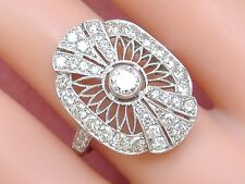 Cocktail Right-Hand or Engagement Ring Art Deco 1.9ctw Diamond Platinum Fancy