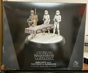 Boba Fett Han Carbonite Star Wars Gentle Giant Tachu Series with Han Solo Carbon