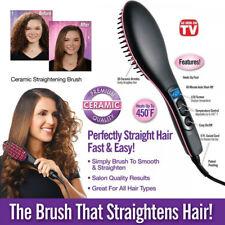 brosse à Cheveux lisseur peigne electrique lcd lissant fer a defriser