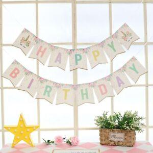 Happy Birthday Unicorn Bunting Banner Flag Garland Party Ware Decoration UK