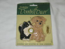 VickiLane Dog & Cat Lighted Door Bell Button Vicki Anderson New 3D