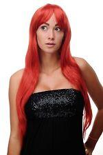 Perruque Rouge Rouge Vif Longue Raie Séduisant Perruque Env. 70cm 3111-137