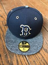 Boston Red Sox New Era Hat Cap 7 1/8 59FIFTY All Star Game 2016 Blue Gray NWT