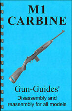 M1 Carbine Manual Book Takedown Guide direct from Gun-Guides Disassembly M 1 Usa