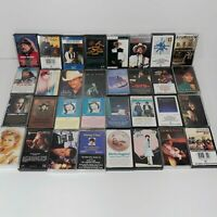 Large Lot of 32 Vintage Country Cassette Tapes Nelson Brooks Haggard Cline Cash2