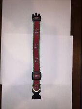 """New listing Christmas Collar for Small Dog, Adjustable, 3/4"""" Wide (approx. 10-13"""" long)"""