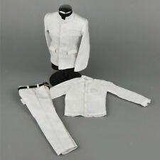 "1:6 White Chinese Tunic Suit Accessories for 12"" Males BBI Dragon DID Figure"
