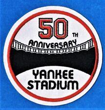 NEW YORK YANKEES 1973 YANKEE STADIUM 50th ANNIVERSARY EMBROIDERED MLB PATCH