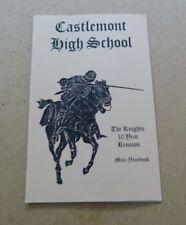 Vtg Castlemont High School Class of 1975 Mini Yearbook 10th Year Reunion -U413