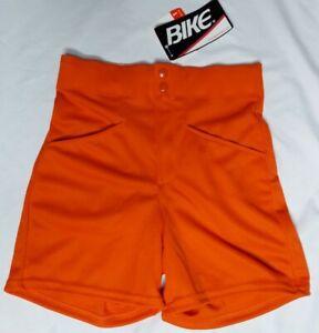 Bike Vintage Mens Small Coach Shorts Stretch Gym Polyester Orange Softball Visa