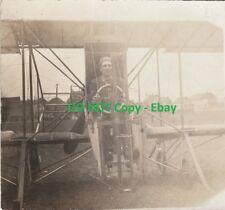 RARE - Aviation RPPC - Unknown Image of John Rodgers Biplane Real Photo ca 1911