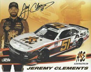 2021 JEREMY CLEMENTS ALLSOUTH ELECTRIC #51 NASCAR XFINITY POSTCARD Autographed