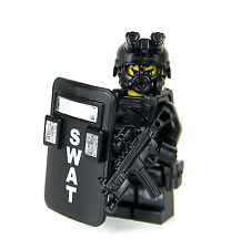 Custom FBI Swat Police Officer Knee Pads Pointman made with real LEGO® Minifig