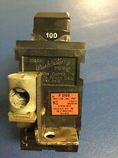 100 Amp Pushmatic Bulldog 11200 Main Breaker 2 Pole 100A - Old Wide Lower Tab
